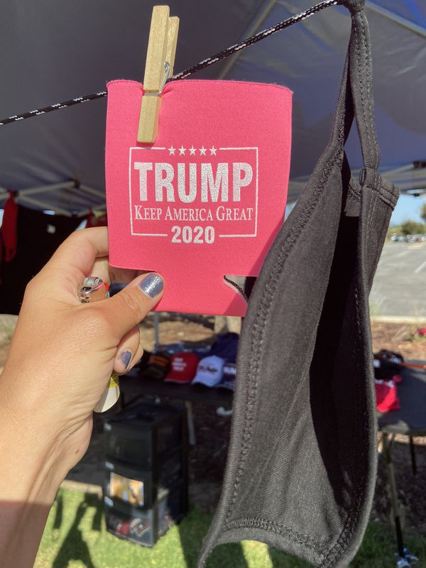 Trump t-shirts, hats, cookzies, masks etc.