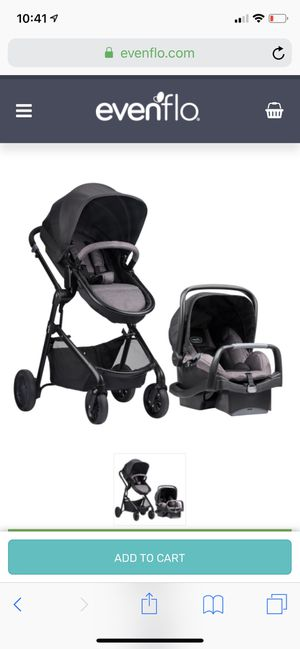 Evenflo Pivot stroller and car seat set for Sale in Lafayette, LA