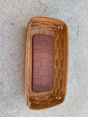 Longaberger Bread Basket with Ceramic Warming Brick for Sale in Denver, CO
