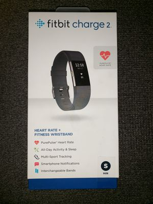 Fitbit Charge 2 Activity Tracker + Heart Rate: Small Black for Sale in Romeoville, IL