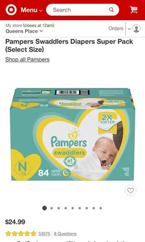 Newborn diapers (NO BOX) for Sale in New York, NY