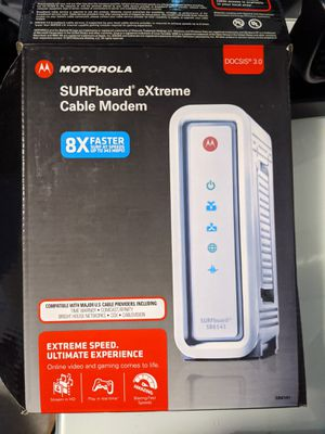 Motorola Surfboard SB6141 DOCSIS 3.0 High-Speed Cable Modem for Sale in Apex, NC