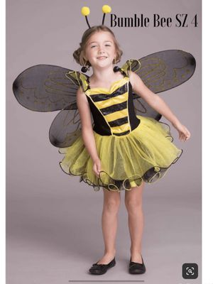 NWT Chasing Fireflies Bumble Bee Costume for Girls SZ 4. Includes costume, wings. Headband for Sale in Arlington, VA