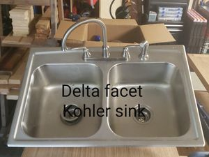 Delta facet and Kohler sink for Sale in Farmville, VA