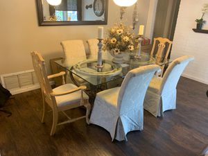 Dining room table w/8 chairs 2 not on shown on photo for Sale in Plantation, FL