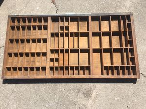 Antique type set display drawer - wooden - great shape for Sale in Kissimmee, FL