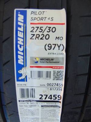 2 Brand New 275 30 20 Michelin Pilot Sport 4S Tires 97Y MERCEDES*2018* for Sale in Aurora, CO