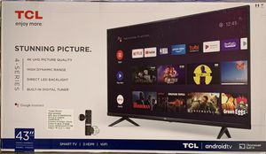 "New in box TCL 43"" Class 4 Series 4K UHD Smart Roku TV for Sale in Covina, CA"