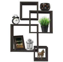 Brown 4 Cube Interconnected Hanging Wall Display Shelf for Sale in Los Angeles,  CA