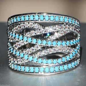 NEW ARRIVAL* 925 Silver Cyan Sapphire Ring SZ 6 / 7 /8 / 9 / 10 *See My Other 300 Items* for Sale in Palm Beach Gardens, FL