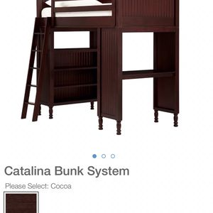 Pottery Barn Bunk Bed With Desk And Shelfs for Sale in Escondido, CA