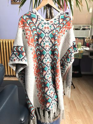 Color Geometric Poncho Cardigan Sweater for Sale in Chicago, IL