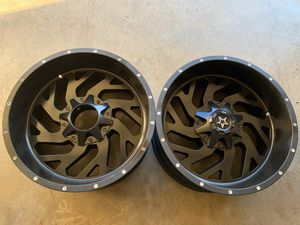 20x10 INCH DFD OFF-ROAD RIMS 8 LUG 8x165 ONLY 2 SOLO 2 for Sale in Grand Prairie, TX