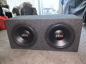 PowerBass 12 in subs with 3000 watt amp for Sale in Phoenix, AZ