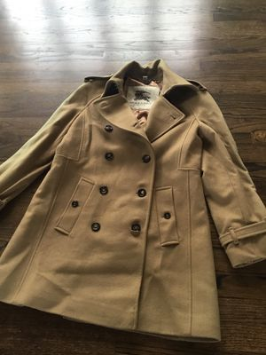 Burberry wool tan coat size 10 for Sale in Arlington Heights, IL