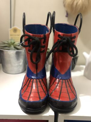 Spider man rain boots for Sale in Beltsville, MD