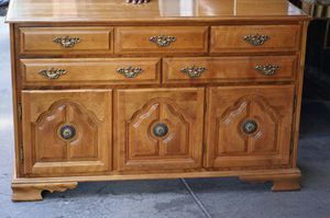 """#33663 Mid Century Mahogany 19"""" x 32"""" x 62"""" Wide 9-Drawer Dresser with Mirror - $295 for Sale in Oakland, CA"""