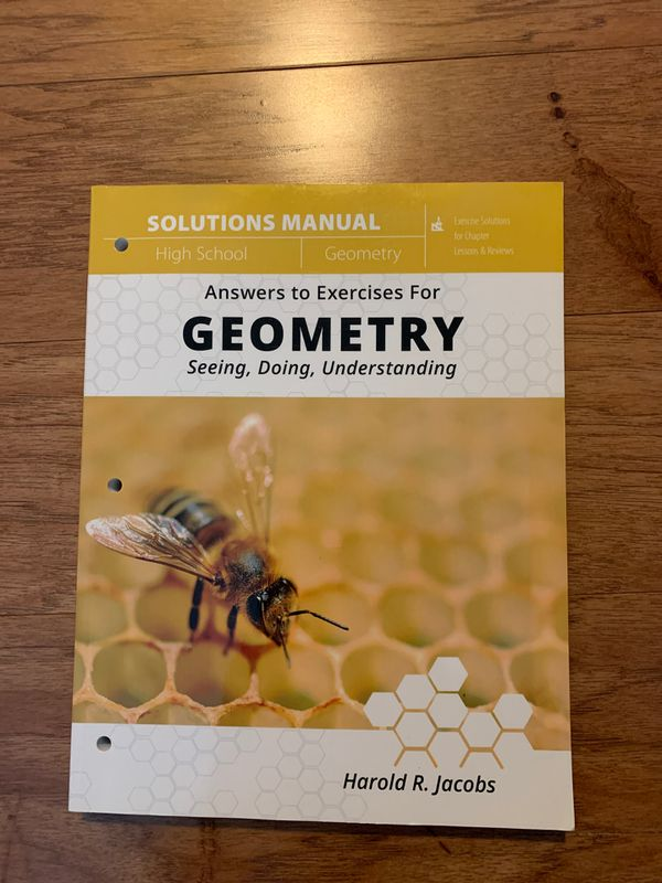 Geometry: Seeing, Doing, Understanding book with Teacher's guide and Solutions Manual