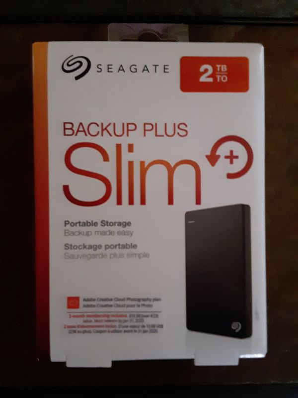 2TB backup slim plus portable hard drive