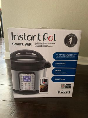 New Instant pot smart WiFi 6 quart for Sale in Niederwald, TX