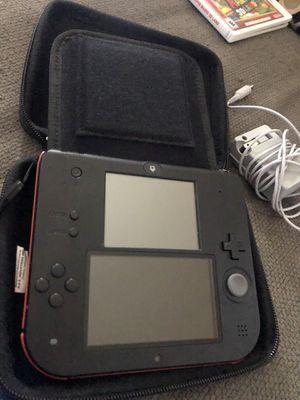 Nintendo 2 DS with Sonic Rush & Super Mario 3D for Sale in Hemet, CA