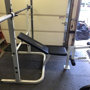 Home Gym Rack And Bench + Leg Curl/Extension for Sale in Rancho Cucamonga, CA
