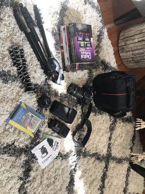 Canon EOS Rebel T4i with Accessories for Sale in Williamsburg, VA