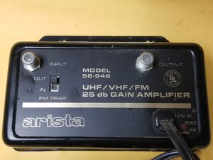 Arista 25 db TV Signal Amp for Cable/ Antenna for Sale in Glen Burnie, MD