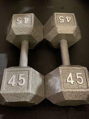 45 lbs dumbbells set for Sale in Irvine, CA