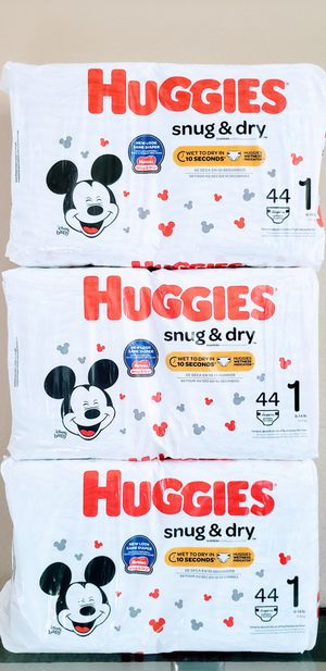 Huggies Snug & Dry Size 1 (Total 132 Diapers) - $18 For All FIRM for Sale in Irvine, CA