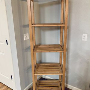 "5 Tier Solid Bamboo Slatted Tower Shelf !!! 22"" W 72"" H for Sale in Vancouver, WA"