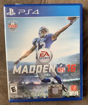 Madden 16 for ps4 for Sale in White Plains, NY