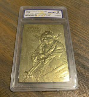 1996 Star Wars Darth Vader Edition Yoda Limited Edition Card 23kt Gold WCG 10 graded for Sale in Ocoee, FL