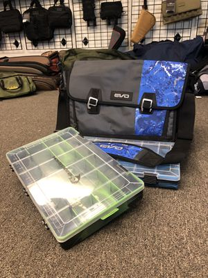 Fishing Tackle Bag With 2 Camo Tackle Boxes Brand New for Sale in West Covina, CA