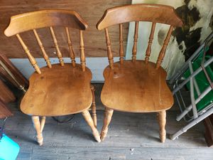 2 Older wooden chairs kitchen dining for Sale in Erie, PA