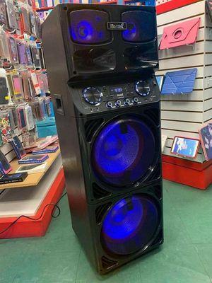 BAJO SUPER POTENTE SONIDO CLARO🎶🎶 BLUETOOTH, USB, MICROFONO INALANBRICO, KARAOKE LUZES LED ECUALIZADOR, 9000 WATTS WOOFERS SMART APLIFICADOS for Sale in Huntington Park, CA