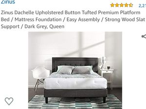 New Zinus Dachelle Upholstered Button Tufted Platform Bed Queen for Sale in Canal Winchester, OH