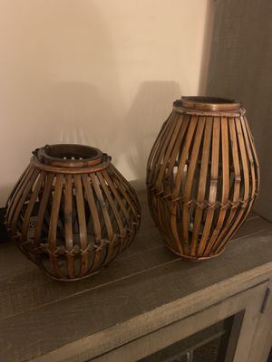Set of wooden lanterns for Sale in Bountiful, UT