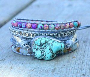 Boho 5 Layer Natural Irregular Turquoise Bracelet for Sale in Wichita, KS