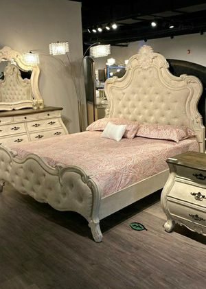 $39 DOWN❗BEST Deal 🛬 Ashford Weathered White Panel Bedroom Set 231 for Sale in Jessup, MD