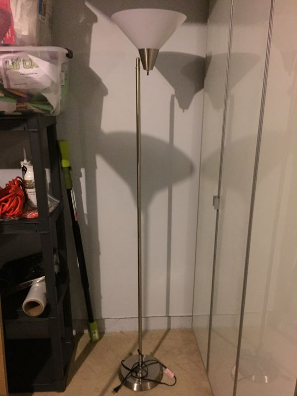 Floor lamp metallic silver metal- more than one available