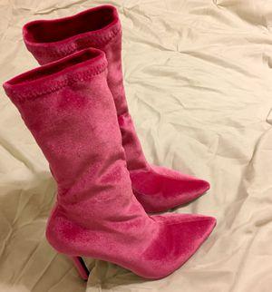 Pink Velvet Boots for Sale in Atlanta, GA