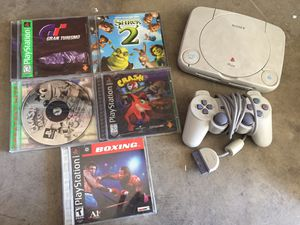 Play station one with 5 games for Sale in Glendale, AZ