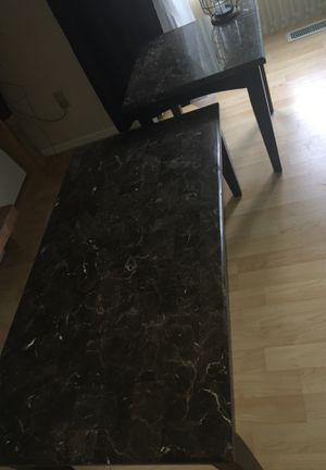 Marble coffee and end tables set for Sale in Federal Way, WA