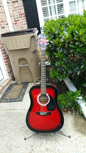 Stagg full size acoustic guitar red sunburst very nice for Sale in Marietta, GA