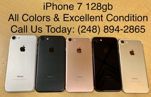 SALE: Unlocked iPhone 7 128gb Used All Colors Excellent Condition for Sale in Royal Oak, MI