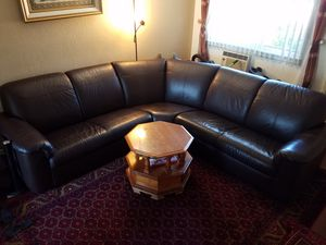 Leather sectional Couch Dark Brown for Sale in Concord, CA