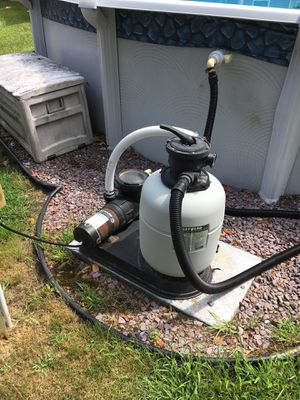 Selling a Hayward pump and Sand filter, also 24 foot round above ground pool in good condition, no liner. for Sale in Brockton, MA