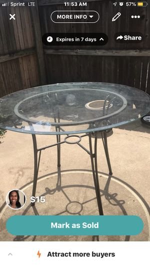 Glass Kitchen Table for Sale in Tulsa, OK
