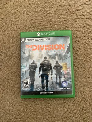 Tom Clancy the division's Xbox 1 for Sale in Gilroy, CA
